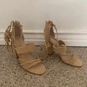 Guess beige strappy sandal heels